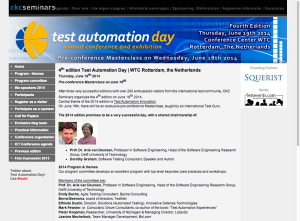 Test Automation Day 2014 - Worldclass in the Netherlands June 19th 2014 - WTC Rotterdam